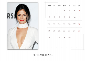 "Selena Gomez ""Selfmade Calendar 2016"" ( 12x ) 1debbe455014948"