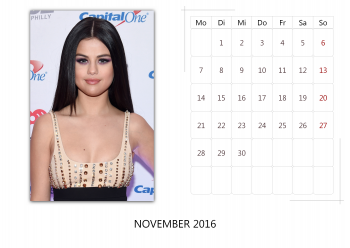 "Selena Gomez ""Selfmade Calendar 2016"" ( 12x ) D74ca8455014963"