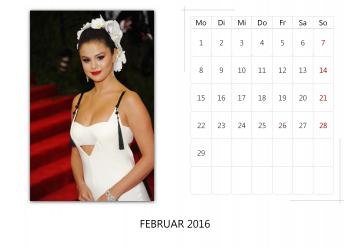 """Selena Gomez """"Selfmade Calendar 2016"""" ( 12x ) F750e8455014910"""