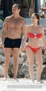 Andrea Legarreta Bikini rojo