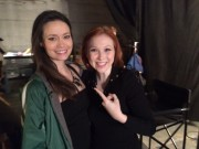 Molly Quinn and Summer Glau on Set of Castle