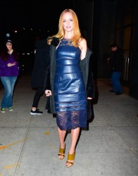 Heather Graham - In Blue Leather Leaving Watch What Happens Live In NYC (1/12/16)