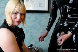 AliceInBondageLand - Chastity Fashion Show - CB3000 Hinged Ring Plastic Device