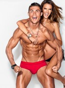 Alessandra Ambrosio-      GQ Magazine (US) February 2016 With Soccer Superstar Cristiano Ronaldo.