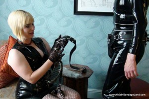 AliceInBondageLand - Chastity Fashion Show - Mr S Metal Cage Belt