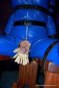 AliceInBondageLand - Leather Catsuit Gasmask Breathplay - CBT Forced Orgasms Crossdressing Fetishist