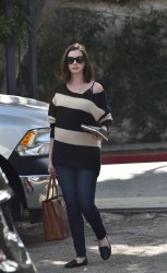 Anne Hathaway - Out in West Hollywood 1/24/16