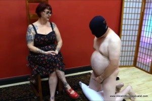 AliceInBondageLand - Domina Jenna Rotten - SPH Cocksucking Humiliation - Forced Bi Cum Contest
