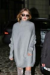 Gigi Hadid - Leaving Chanel Offices in Paris 1/25/16