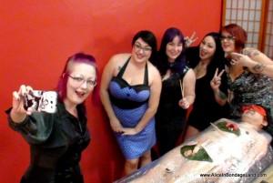 AliceInBondageLand - Sushi Sissy Nyotaimori Bondage - Chastity FemDom Lunch Party