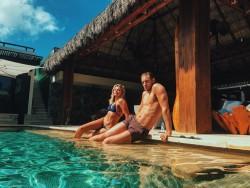 Chloe Moretz in a Bikini at a Pool in Mexico - 2/2/16 Instagram Pics