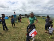Lucy Lawless - Waitangi Day at Bastion Point Twitter pics (pokies) 6.2.2016 x2