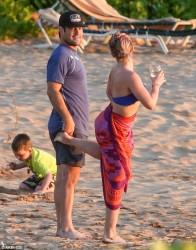 Hilary Duff at a Beach in Maui - 2/7/16