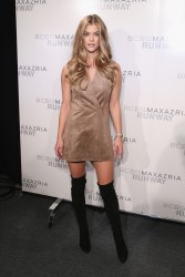 Nina Agdal - BCBGMAXAZRIA Fall 2016 Fashion Show in NYC 2/11/16