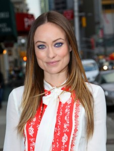 Olivia Wilde at the Ed Sullivan Theatre visiting the Late Show with Stephen Colbert on February 9, 2016