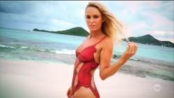 Caroline Wozniacki in body paint in SI Swimsuit 2016 x24