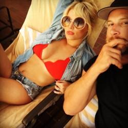 Jessica Simpson - Bikini Top Instagram Pic