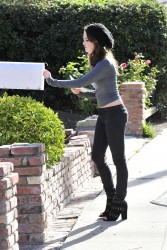 Laura Marano - Outside her House