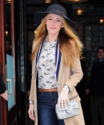 Blake Lively - Leaving her hotel in NYC 2/19/16