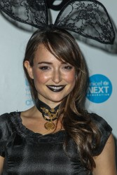 Milana Vayntrub at the UNICEF Black & White Masquerade Ball in L.A. - 10/30/15