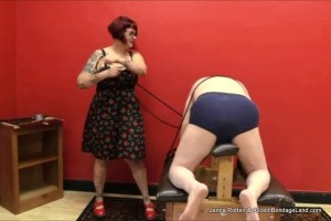 AliceInBondageLand - Domina Jenna Rotten Disciplines Her Slave - Corporal Punishment