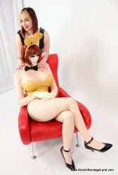 AliceInBondageLand - Steffy the Rubberdoll As the PlayBoy Bunny - Latex Crossdressing Pinup Icon