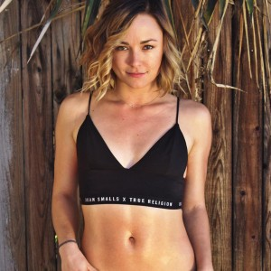 Briana Evigan in a sports bra (Instagram 1st March 2016)