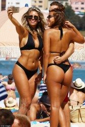 Devin Brugman and Natasha Oakley Wearing Bikinis at Bondi Beach in Sydney - 3/5/16