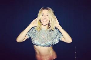 Ellie Goulding - showing off her midriff on Instagram