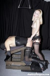 AmberDungeon - Mistress Mika - Blonde Anal Attack