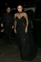 Selena Gomez - Arriving at the Louis Vuitton Dinner Party in Paris 3/9/16