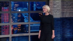 Helen Mirren snogs Stephen Colbert on The Late Show 3-10-2016 x54