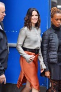 "Neve Campbell -         Leaving ""Good Morning America"" New York City March 11th 2016."